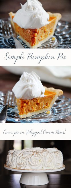 This easy (but DELICIOUS) Pumpkin Pie is only 5 ingredients!