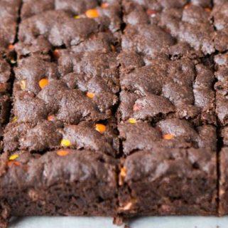 triple fudge reeses brownies