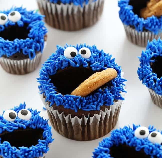 Cookie Monster Cupcakes!