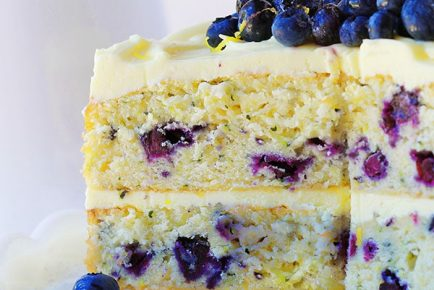 Blueberry Zucchini Lemon Cake!