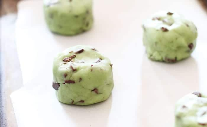 Oreo Stuffed Peppermint Cookies