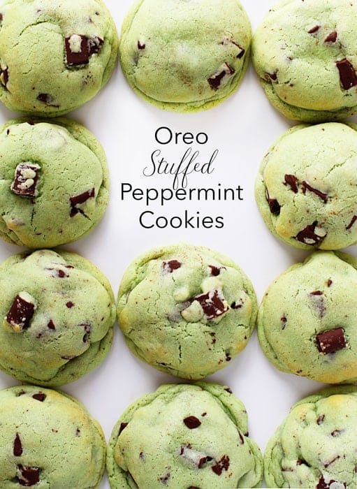Seriously amazing chocolate mint cookies with a fantastic surprise inside!