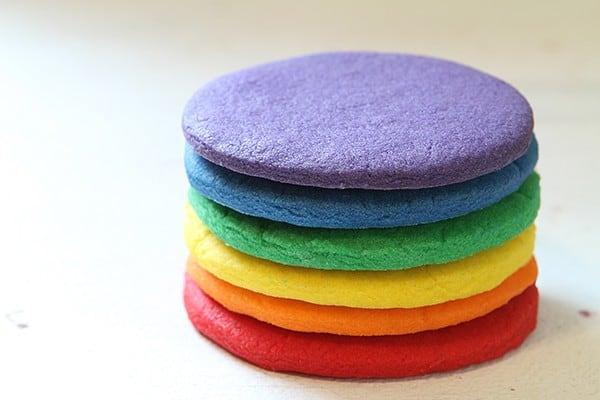 Rainbow Sugar Cookies