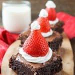 santa hat brownies
