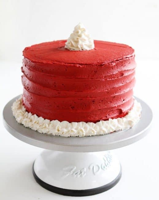 Cake on Rotating Cake Stand