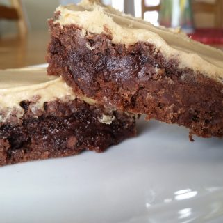 Dairy Free Brownies with Peanut Butter Frosting