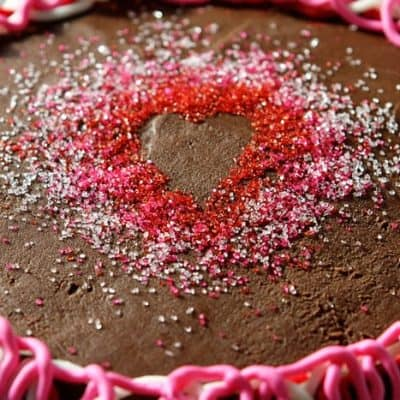 Heart Shape in Sprinkles for Cake Decorating