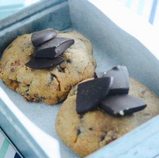 Gluten Free PeanutButter, Chocolate & Bacon Cookies