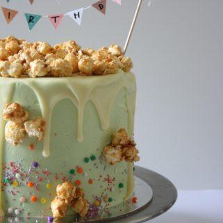 Toffee Apple Popcorn Cake