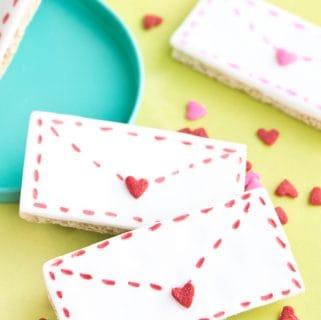 Graham cracker love letters