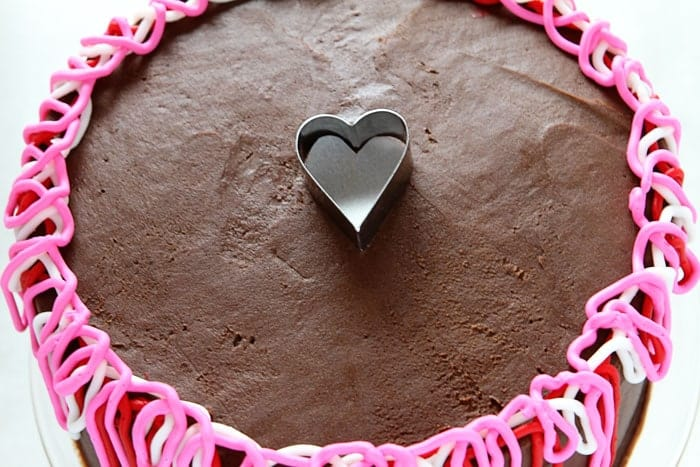 Heart Shape in Sprinkles for Cake Decorating