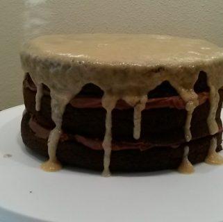 Bourbon Chocolate Tipsy Cake
