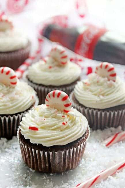 Coca-Cola-Chocolate-Cupcakes-With-Peppermint-Buttercream-4-683x1024