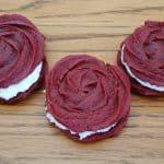 Red Velvet Rose Sandwich Cookies