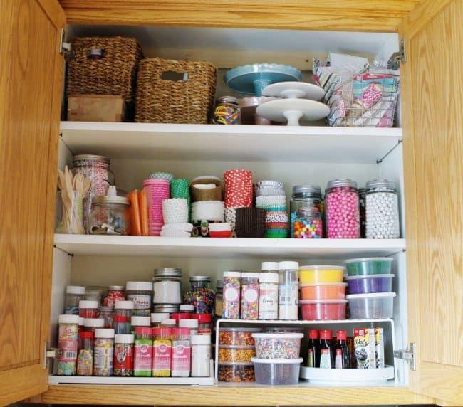 Organized Sprinkles Cabinet!