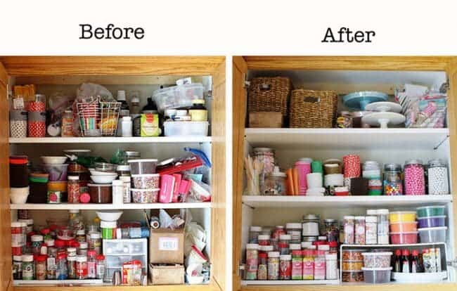Before & After Cabinet Organization