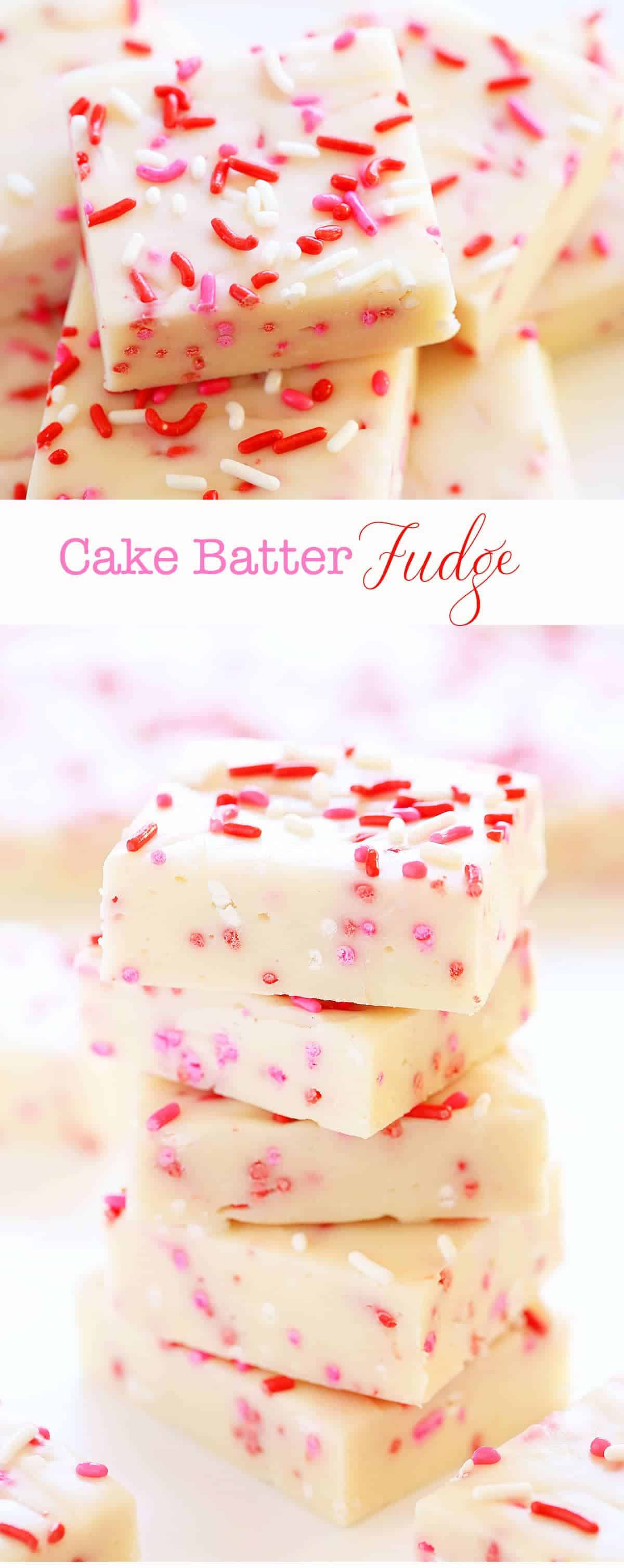 Delicious Valentine's Day Inspired 3 ingredient Fudge!