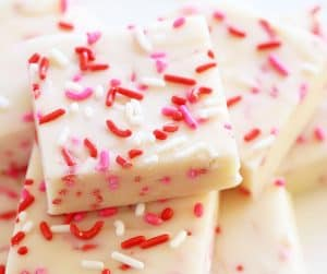 Cake Batter Fudge {Valentine's Day}