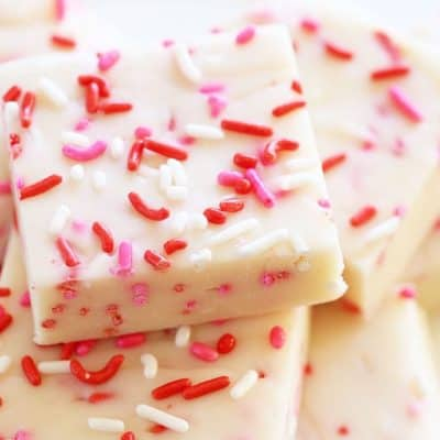 Delicious Valentine's Day Inspired 3 ingredient Fudge!
