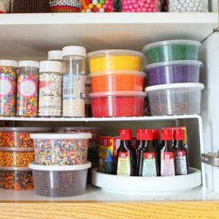 Sprinkles Cabinet {Before & After}