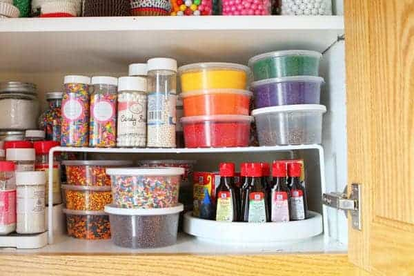 Food Coloring Storage