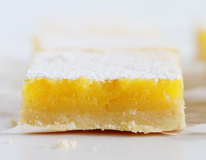 Slightly Tart (as a lemon bar should be!) and gloriously sweet!
