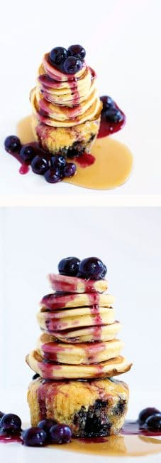 Blueberry Muffin Pancake Extreme Cupcake