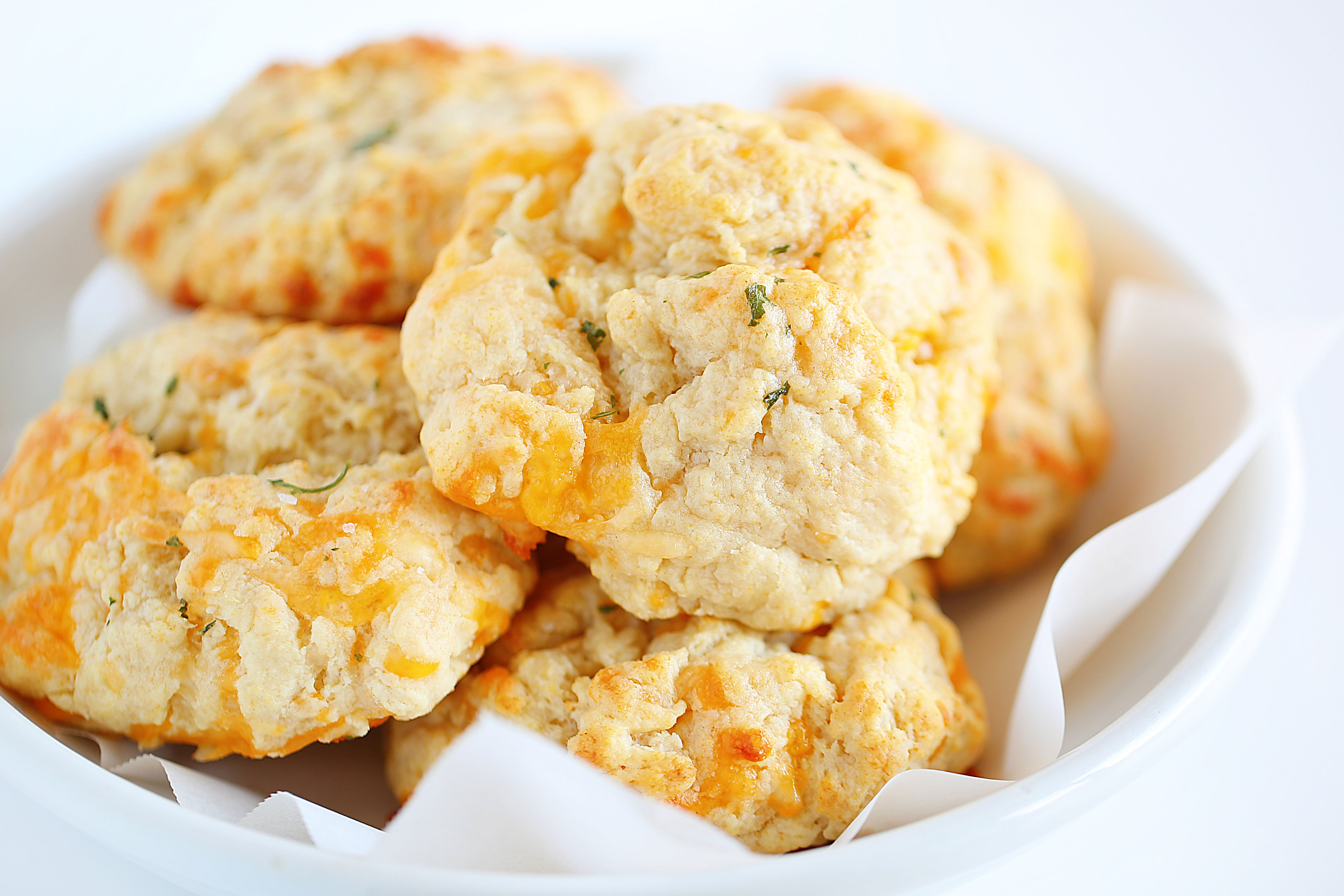 Bowl of Cheesy Garlic Biscuits