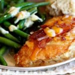 Cheesy Bacon Chicken with Mustard Sauce