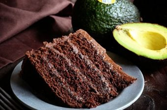 Insanely moist & rich chocolate cake! It's the avocado that makes it truly spectacular!