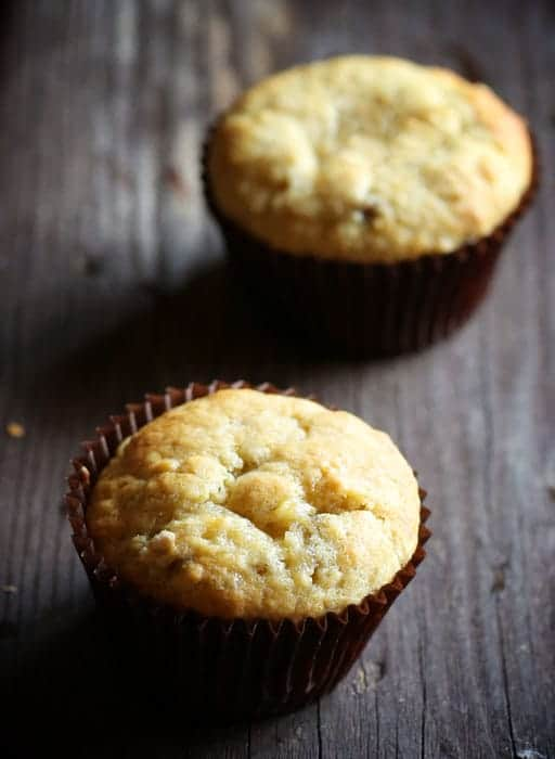 I left out one very traditional ingredient in these muffins... and the result was the PERFECT Banana Muffin!