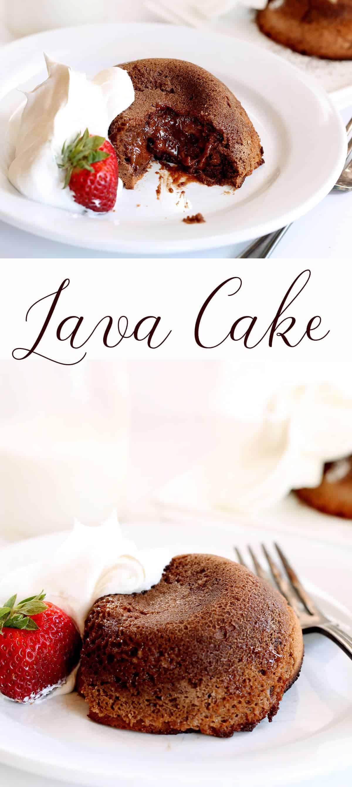 Molten Chocolate Lava Cakes - i am baker