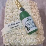Rose Swirled Retirement Cake