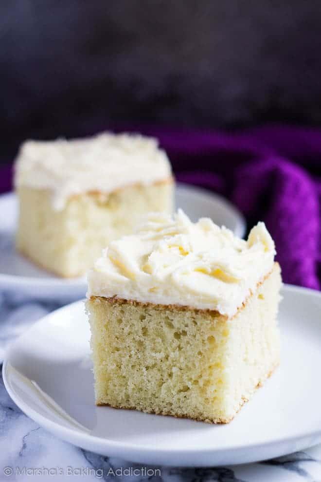 Perfect Vanilla Sheet Cake I Am Baker
