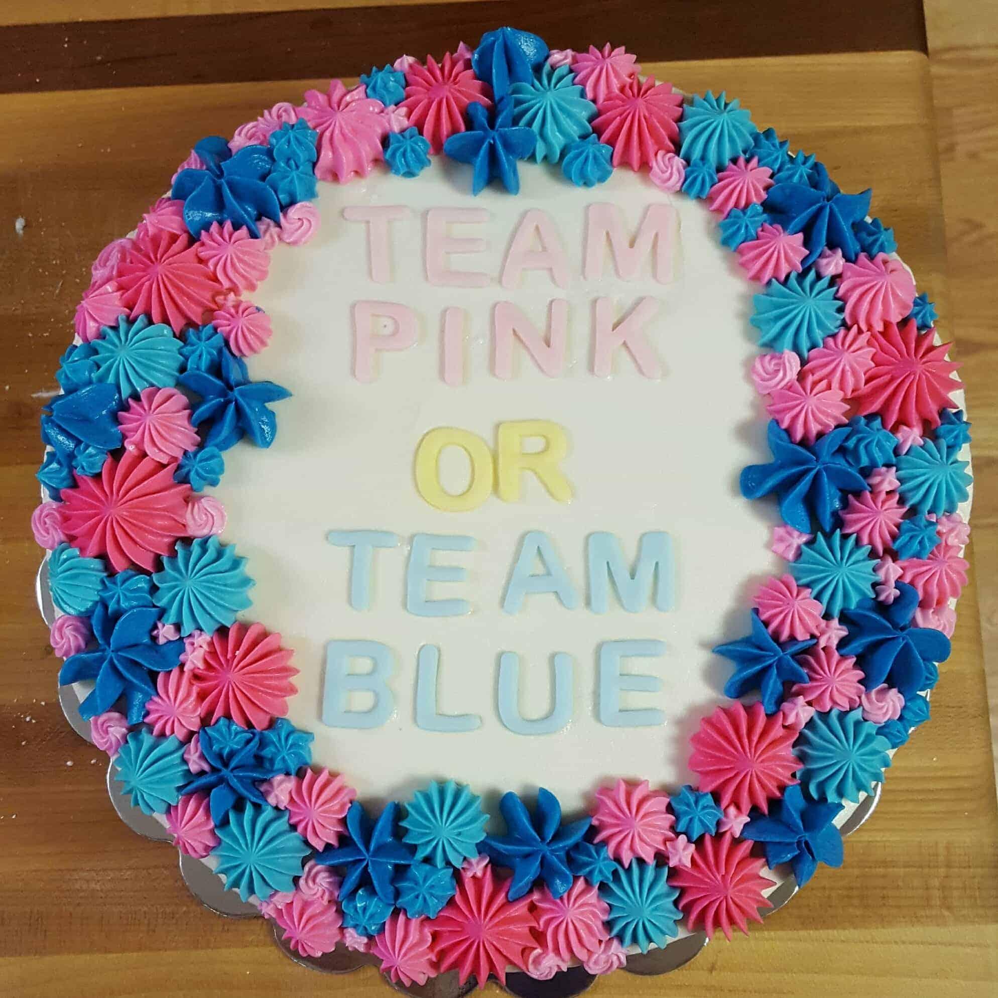 Gender Reveal Party Cake I Am Baker