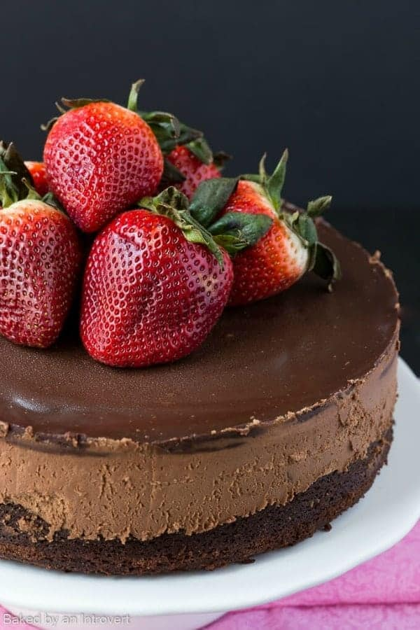 Chocolate Cake Mix With Strawberries Baked Inside