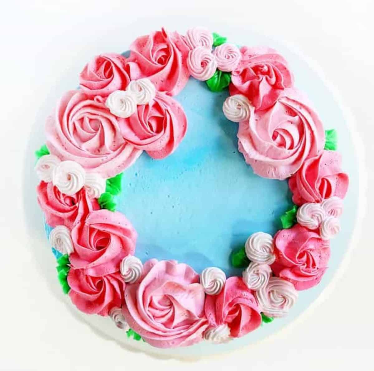 Mother S Day Cake Easy Rosette S I Am Baker