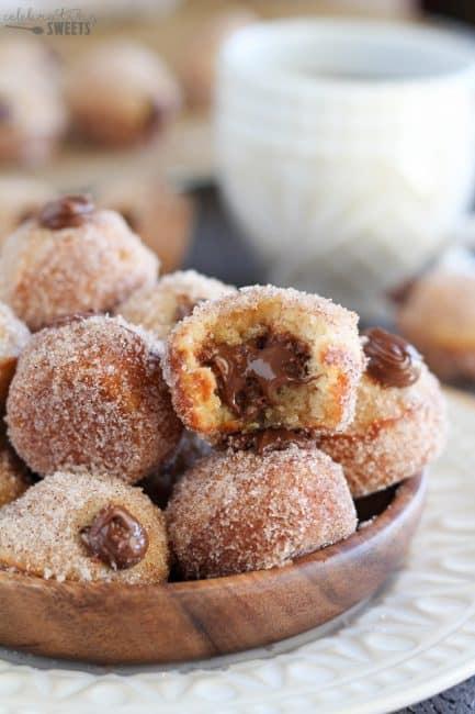 Nutella Stuffed Donut Holes I Am Baker