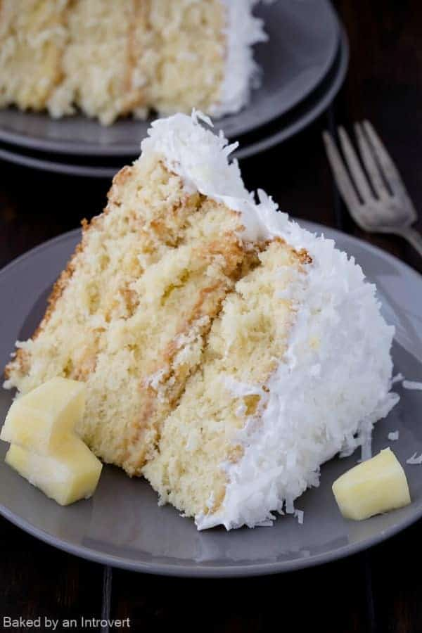 Coconut Cake With Pineapple Curd