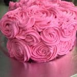 Rose Cake with Whipped Vanilla Buttercream