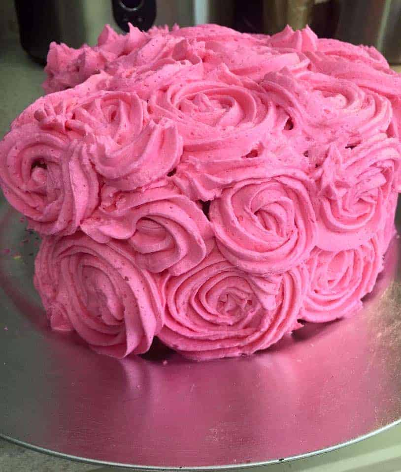 Images For Rose Cake : Rose Cake with Whipped Vanilla Buttercream - i am baker