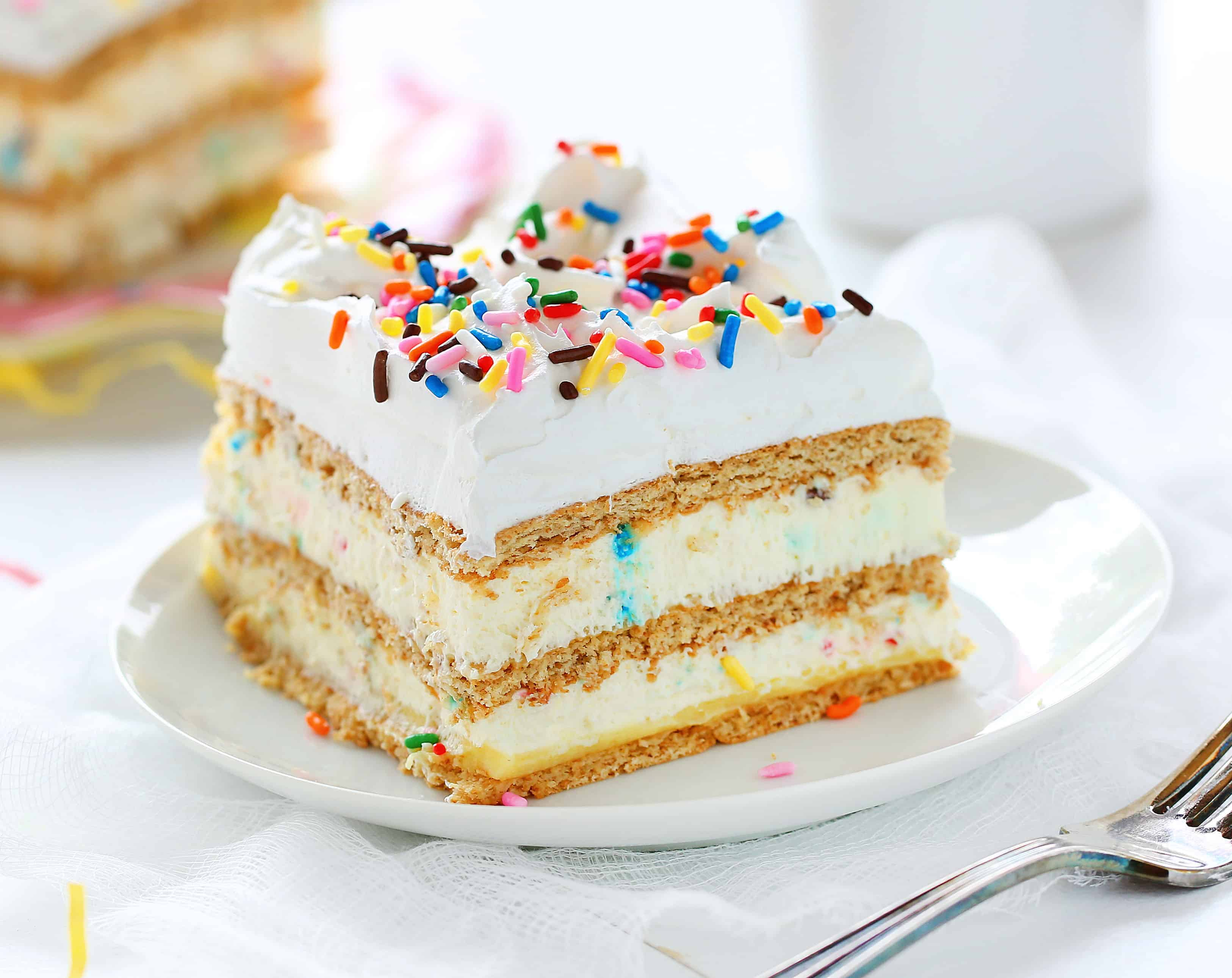 Birthday Cake Lasagna