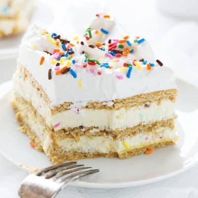 Birthday Cake Lasagna