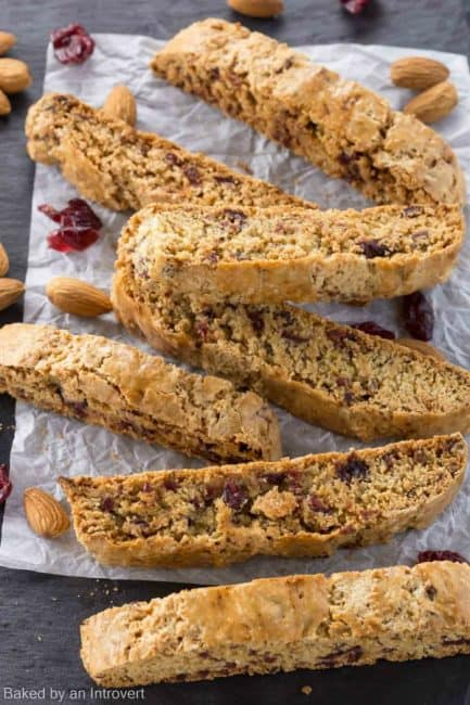 Cherry Almond Biscotti submitted by Baked by an Introvert