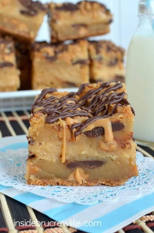 Peanut Butter Cheesecake Cookie Bars - i am baker