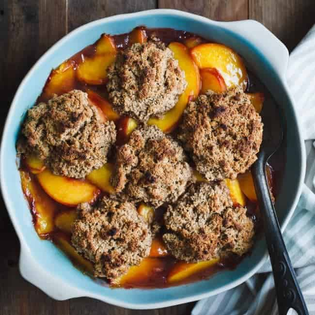 http://iambaker.net/wp-content/uploads/2016/08/Gluten-Free-Peach-Cobbler-Brown-Butter-Chestnut-Biscuits-Square-2-650x650.jpg