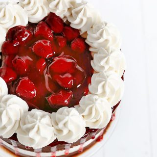 Chocolate and White Layer Cake with Strawberry {Parker's Birthday Cake}