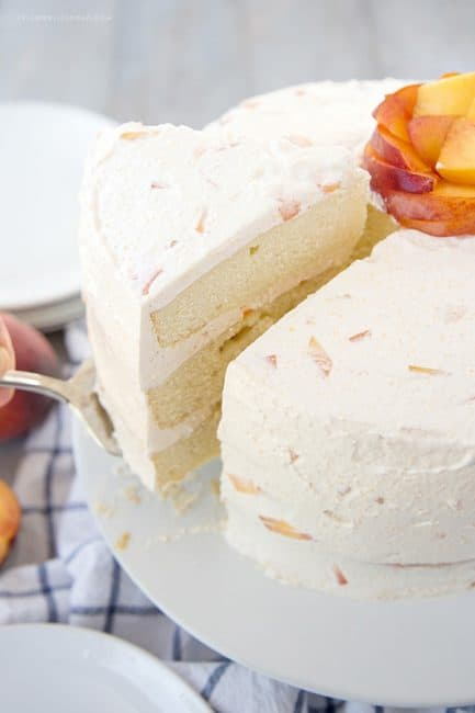 Whipped Cream Frosting With Peaches Recipe — Dishmaps
