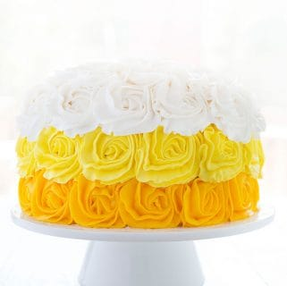 Yellow Ombre Rose Cake