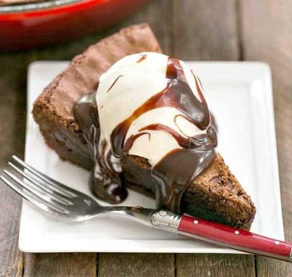 Fudgy Skillet Brownies - i am baker